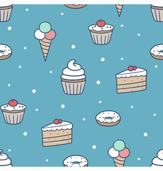 Seamless confection pattern vector