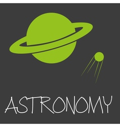 Astronomy text and planet in space symbol eps10 vector