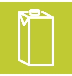 Milk box vector