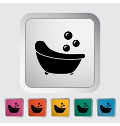 Bath icon vector