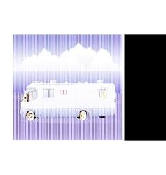 motorhome rv vehicule vector image