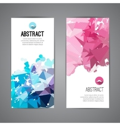 Set of polygonal triangular colorful background vector