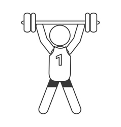 Weight lifting pictogram icon vector