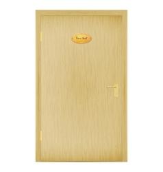 A closed wooden door vector