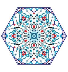 Antique ottoman turkish pattern design eighty five vector