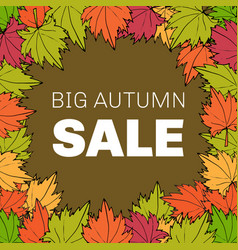 autumn sale floral poster vector image vector image