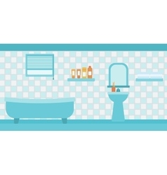 Background of private bathroom vector