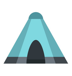 blue tent icon isolated vector image