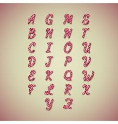 Candy cane alphabet vector