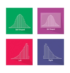 Chart of normal and not normal distribution curve vector