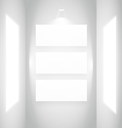 display picture frame in white wall vector image vector image