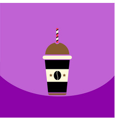 Flat icon design collection cold coffee to vector