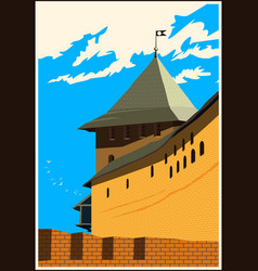 Fortress tower vector