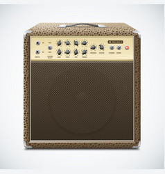 guitar amplifier vector image