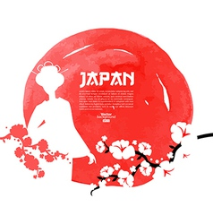 Hand drawn Japanese cherry vector image vector image