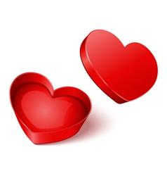 heart gift present open vector image vector image