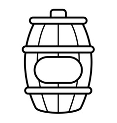 honey barrel icon outline style vector image