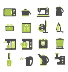 Icons with kitchen utensils vector image