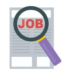 Job search icon vector image vector image