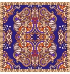 Kerchief square pattern design in ukrainian style vector