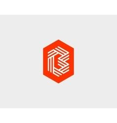 Letter b logo icon design creative line vector