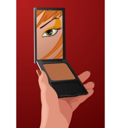 makeup cartoon vector image vector image