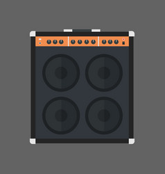 Music speakers icon column stereo system concept vector