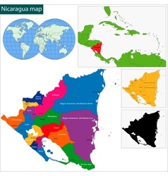 Nicaragua map vector image vector image