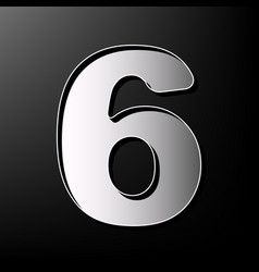 Number 6 sign design template element vector