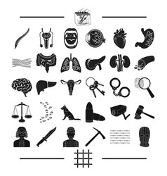 Punishment medicine training and other web icon vector