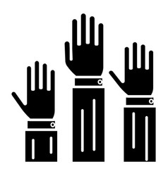 Rights - 3 hands up icon vector