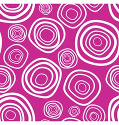 seamless handdrawn circle texture vector image vector image