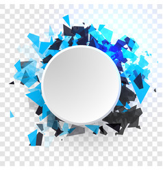 shatter design element empty space for vector image
