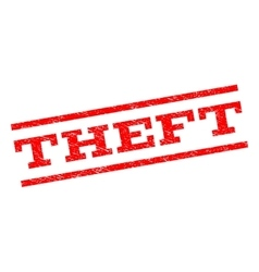 Theft watermark stamp vector