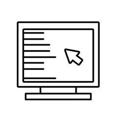 Computer cursor screen technology outline vector