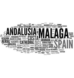 malaga word cloud concept vector image