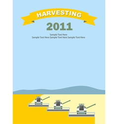 2011 Wheat Harvest Background vector image