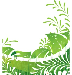 Abstract green lawn vector