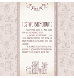 Festive background in retro style vector