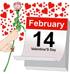 February 14 a day full of love vector