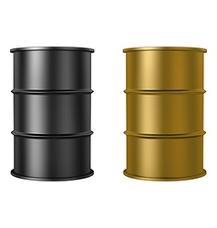 Oil barrels isolated on white background vector