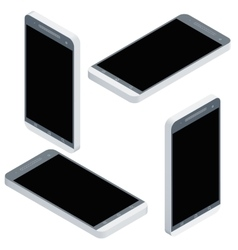 Mobile phone isometrics from four sides icon set vector image