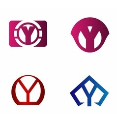 Letter y logo icon design template elements vector image
