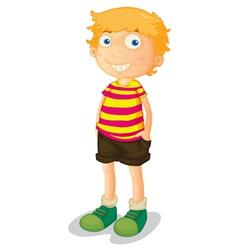Cartoon young boy vector