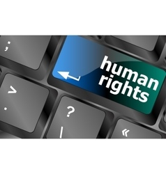 Arrow button with human rights word vector