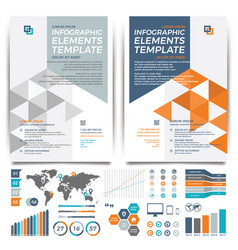 brochure template design cover layout and vector image vector image