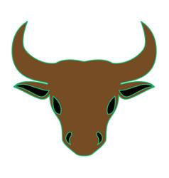 Bull as taurus vector