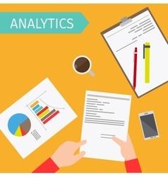Business analytics top view vector image