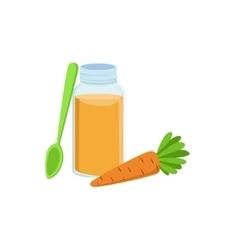 Carfresh carrot juice in jar supplemental baby vector