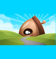 cartoon funny cute nuts with eye - vector image vector image